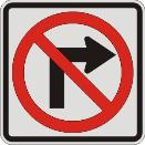No Right Turn symbol
