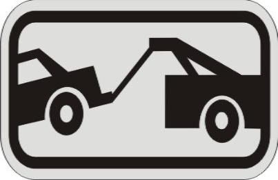 TOW-AWAY ZONE Symbol SIGN R7-201a