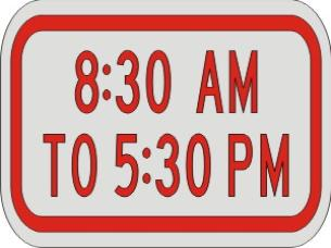 Times Supplemental Plaque sign R7-2p