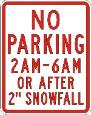 No Parking 2AM-6AM Or After 2