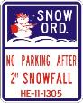 Snow Ord. No Parking After 2