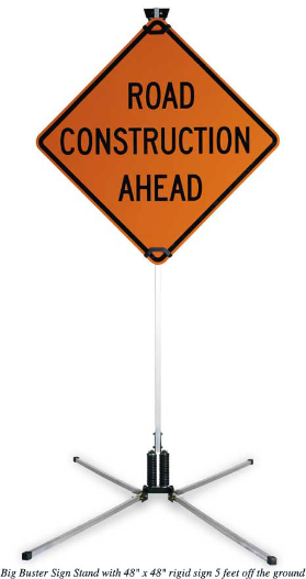 Roll-Up Road construction Ahead Sign